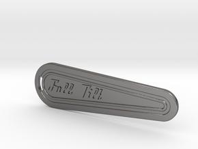 Flipper Bat Keyring - Full Tilt in Polished Nickel Steel