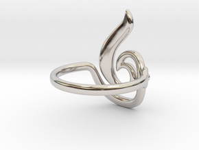 Seed Ring in Rhodium Plated Brass
