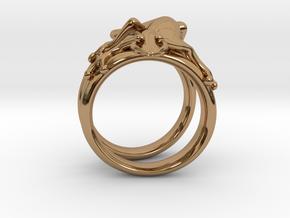 Gekko Ring in Polished Brass