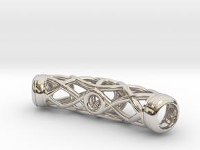 Spiderweb Bracelet in Rhodium Plated Brass
