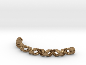 Double Helix Bracelet in Natural Brass
