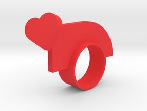 Lovenotwarring in Red Processed Versatile Plastic