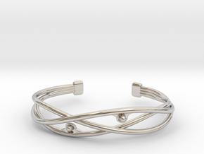 Pearl Bracelet in Rhodium Plated Brass