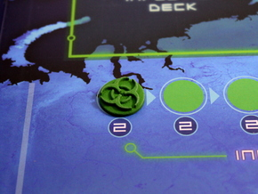 Pandemic Infection Marker -- Legacy Board Sized in Green Processed Versatile Plastic