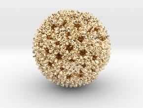 Reovirus in 14K Yellow Gold