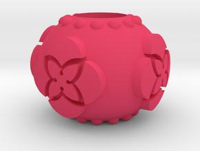 TU Pandora Bead in Pink Processed Versatile Plastic