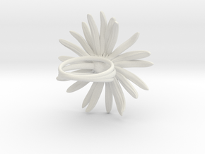 Daisy Ring in White Natural Versatile Plastic: 6 / 51.5