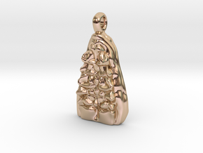 Bones Pendant in 14k Rose Gold Plated Brass