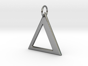 Delta Pendant in Fine Detail Polished Silver