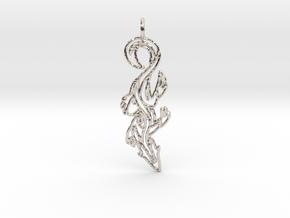 Lizard Pendant in Rhodium Plated Brass