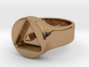 US8 Ring XXIII: Tritium in Polished Brass