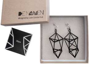 SSym earring in Black Natural Versatile Plastic