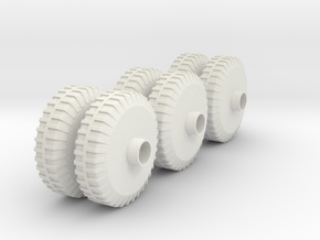 M20 APV Wheels(1:18 Scale) in White Strong & Flexible