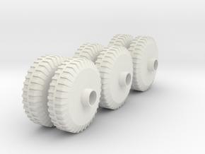 M20 APV Wheels(1:18 Scale) in White Natural Versatile Plastic