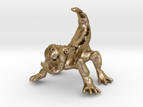 Nantuckra (5 inches tall) in Polished Gold Steel