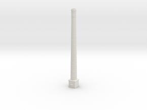 NUch04 Factory chimneys in White Natural Versatile Plastic