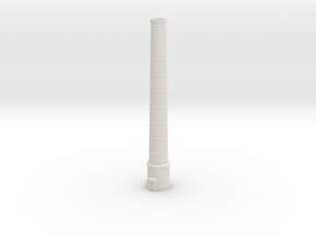 NUch02 Factory chimneys in White Natural Versatile Plastic