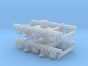 1 pair top-equalized trucks, OSB/RAB (1/160) in Smooth Fine Detail Plastic