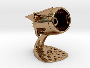 Jet Engine Desk Display [21 Stars] in Polished Brass