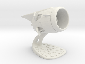 Jet Engine Desk Display [21 Stars] in White Natural Versatile Plastic