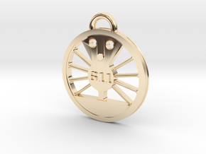 J Class Driver 611 in 14k Gold Plated Brass