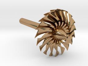 Jet Engine Desk Display [Fan] in Polished Brass