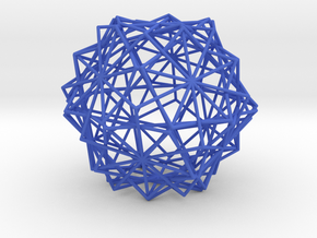 10 Cube Compound, Wireframe in Blue Processed Versatile Plastic