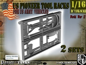 1-16 US Pioneer Tool Rack in White Natural Versatile Plastic