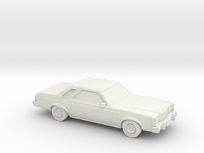 1/87 1978-80 Ford Granada Coupe in White Natural Versatile Plastic