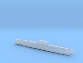 Type XXI Submarine, Full Hull, 1/2400 in Smooth Fine Detail Plastic