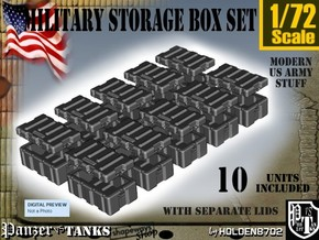 1-72 Military Storage Box Set in Smooth Fine Detail Plastic