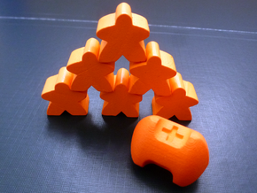 Three sided fudge die in Orange Processed Versatile Plastic