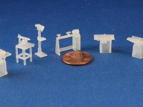 HO SCALE Woodworking Tools in Frosted Ultra Detail