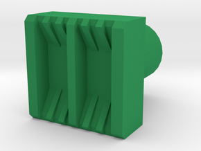 Leather stamp 2, with double lines weaving pattern in Green Processed Versatile Plastic