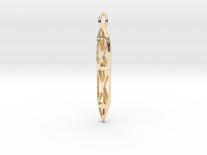 Abstract Sefirot in 14k Gold Plated Brass