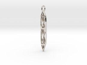 Abstract Sefirot in Rhodium Plated Brass