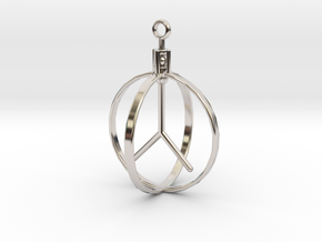 Peace Pendant (Spinning center) in Platinum