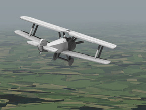 Sopwith Camel (various scales) in White Natural Versatile Plastic: 1:144