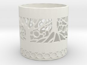 Tree of Life Tealight Holder in White Strong & Flexible