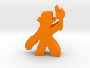 Game Piece, Hat Guy Adventurer, with rope, torch in Orange Processed Versatile Plastic
