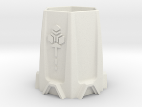 6mm Scale Sci-Fi Cooling Tower in White Natural Versatile Plastic