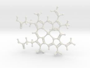Hemoglobin O2 in White Natural Versatile Plastic