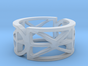Sefirot Ring Size 7 in Smooth Fine Detail Plastic