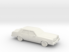 1/87 1977-80  Lincoln Versailles in White Natural Versatile Plastic