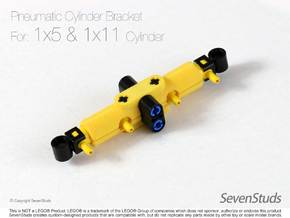 Pneumatic Cylinder Bracket 1/2 (Small) in Yellow Strong & Flexible Polished