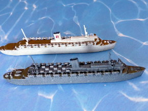 German Wilhelm Gustloff & Robert Ley Liner 1/1800 in Frosted Ultra Detail