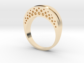 Evaporation Ring - US Size 06 in 14K Yellow Gold