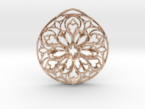 Arche Pendant (Cathedral Series, No. 1) in 14k Rose Gold Plated Brass