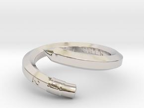 Teacher Pencil Ring - US Size 08 in Platinum: 8 / 56.75