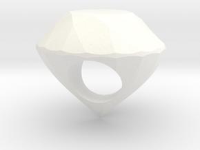 The Diamond Ring in White Processed Versatile Plastic
